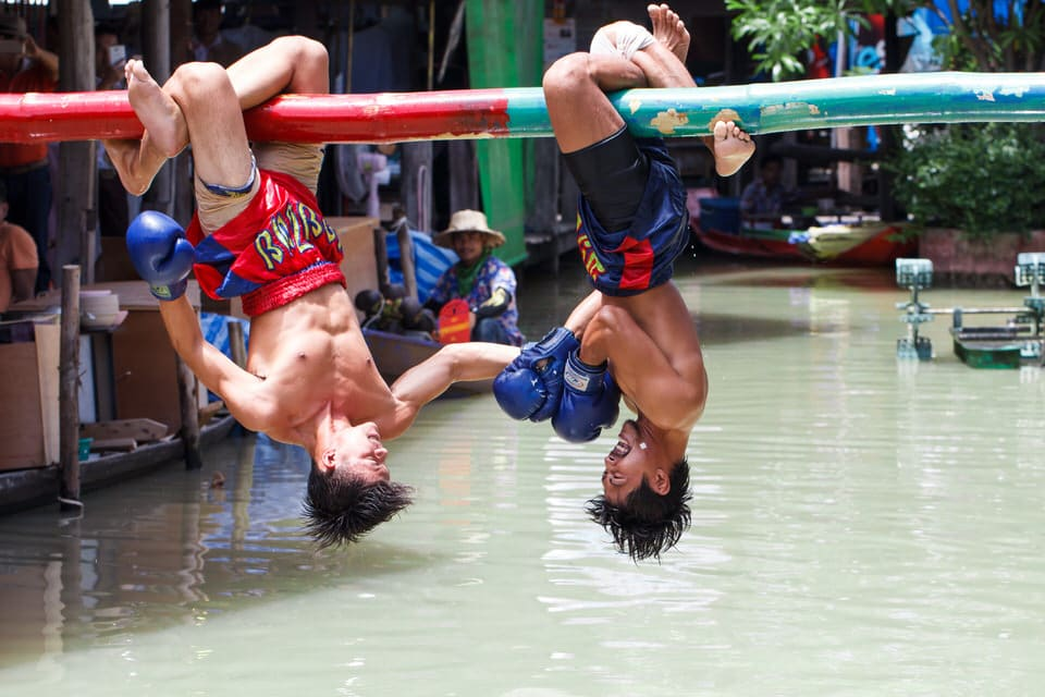 Sea Boxing at Pattaya Floating Market