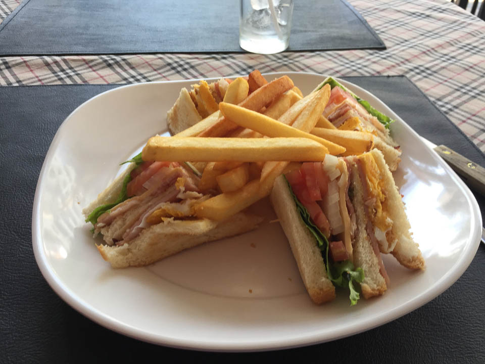 Club Sandwich @ Aroy D Restaurant Pattaya