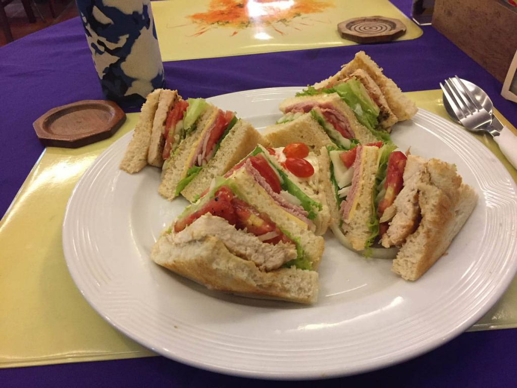 Jollys Restaurant Pattaya - Club Sandwich