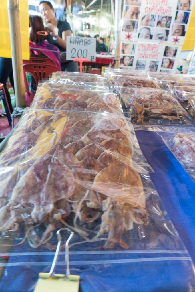 Bag of dried squid - Pattaya Thailand