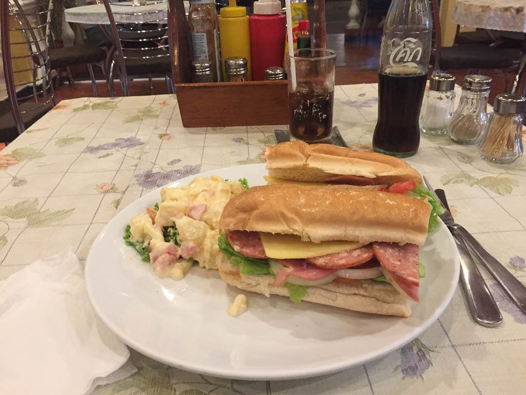 Sub Sandwich at Cafe Pitini in Pattaya Thailand