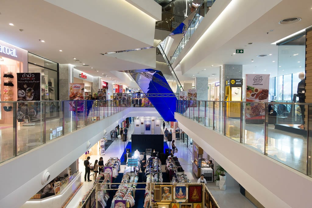 Interior of the Harbor Mall in Pattaya, Thailand