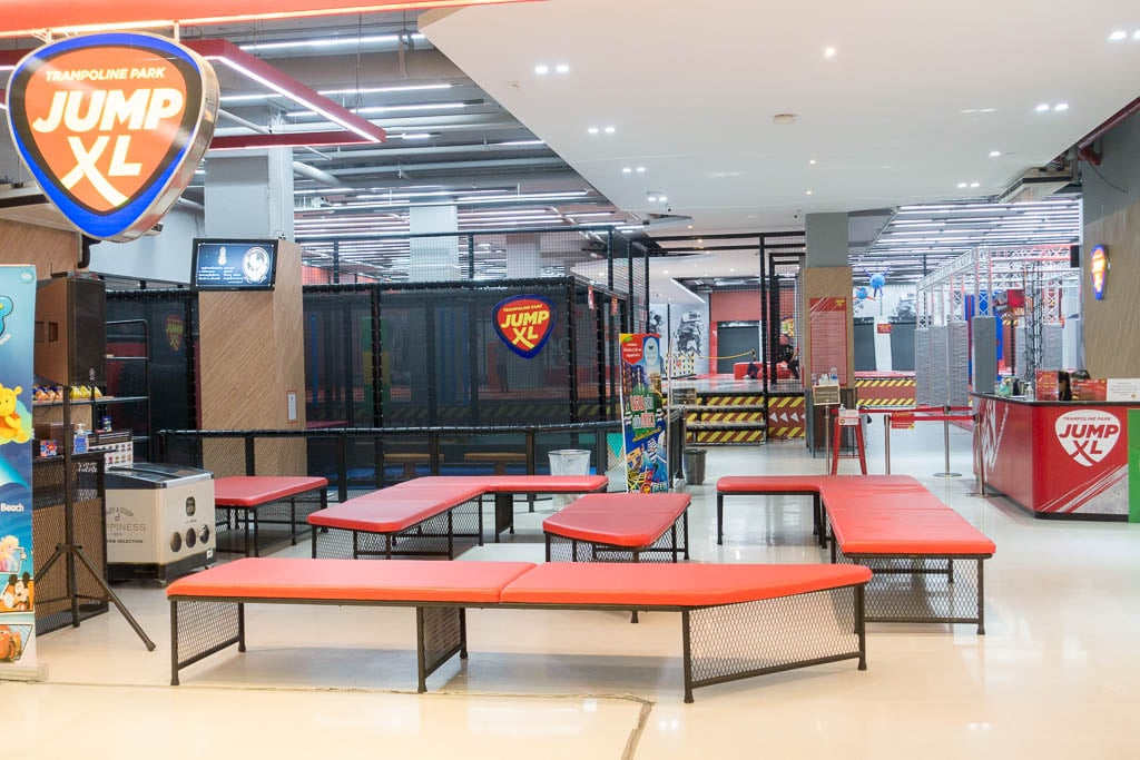 Jump XL Trampoline Gym at Harbor Mall in Pattaya