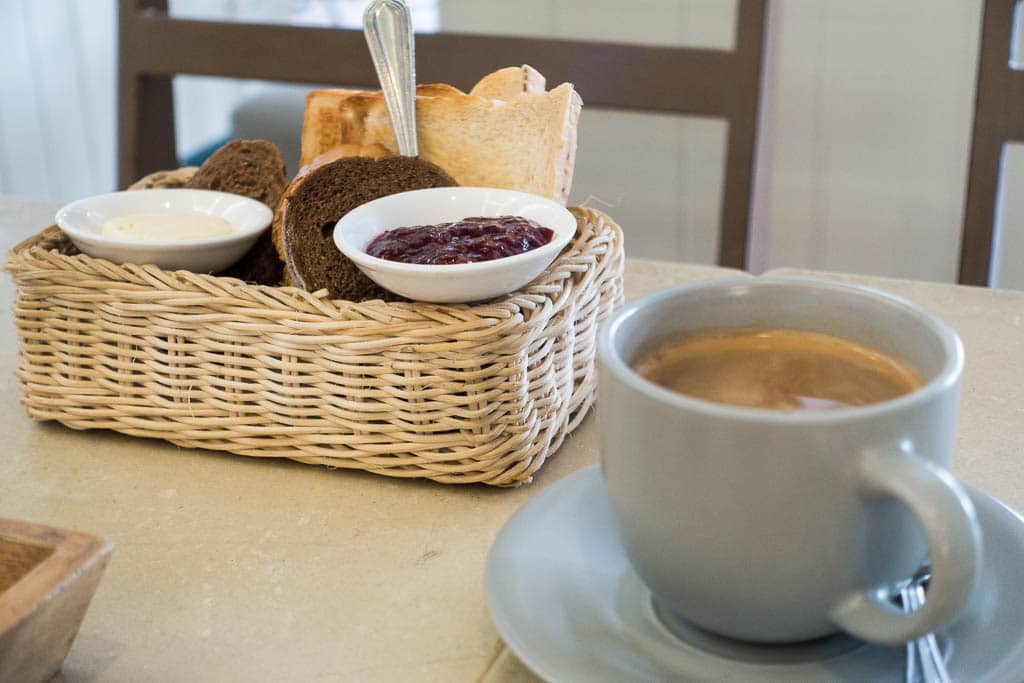 Coffee and Bread at the Loaf Bakery and Cafe on Soi Lengkee in Pattaya Thailand
