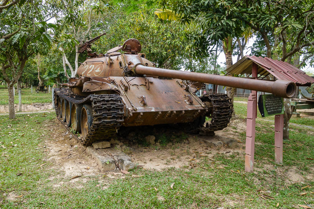 Photo of Tank at Cambodia War Museum