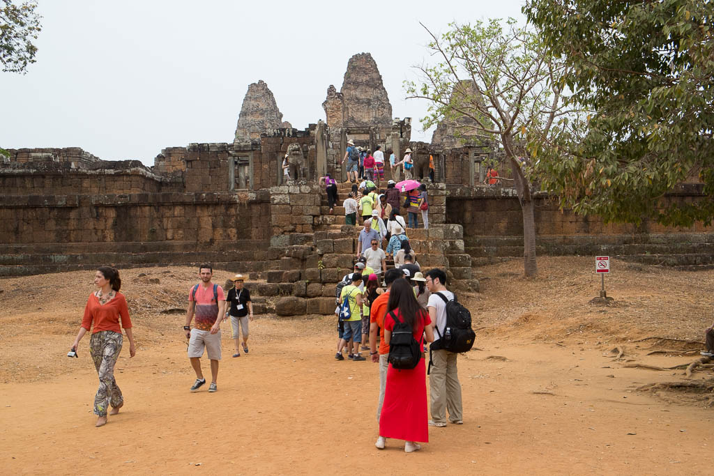 Crowds of Tourists at Angkor Wat Temples