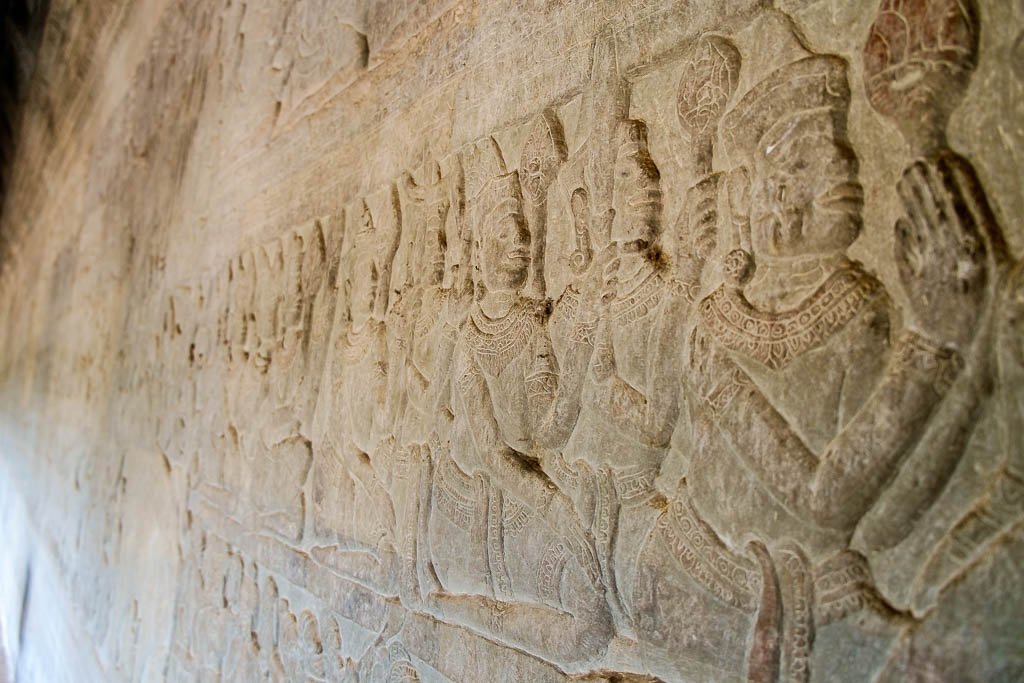 Bas-Relief on Angkor Wat Temple