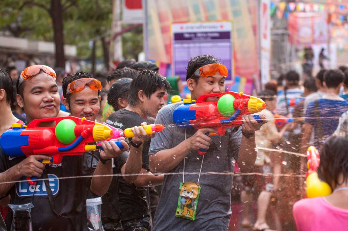 Water Guns at Songkran