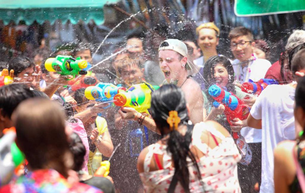 Water guns at Songkran Water Festival