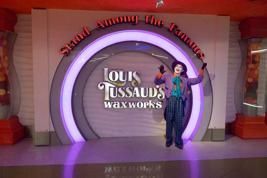 Photo of entrance to Louis Tussauds Wax Work in Pattaya, Thailand
