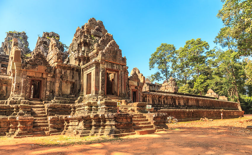 Ta Keo Sand stone temple in Angkor Archaeological Park, Siem Reap Cambodia.
