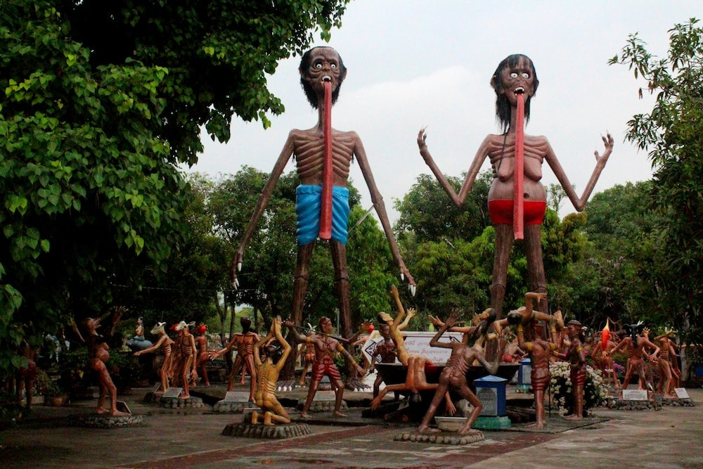 Photo of Buddhist Hell at Heaven and Hell Park in Pattaya Thailand