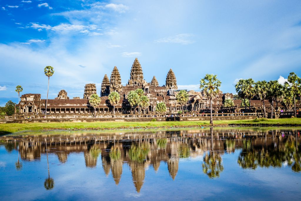 Photo of Angkor Wat temple in Siem Reap, Cambodia.